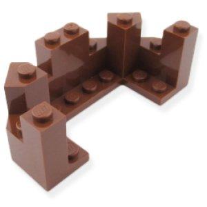 城壁トップ4x8x2.3(レディッシュブラウン)