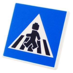 四角標識2x2(横断歩道/ミニフィグ)